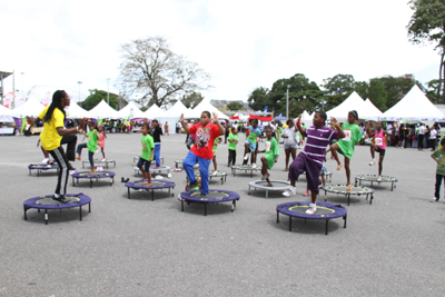 National Health Day at the savannah with Health Children on trampaline