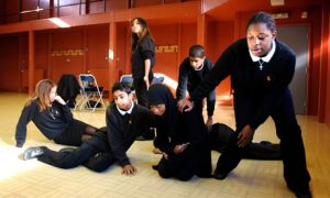 Drama drama lesson being conducted
